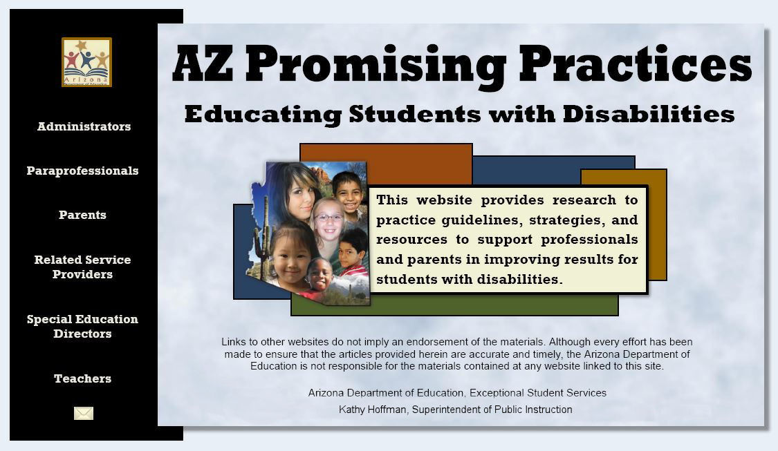 Arizona Promising Practices - Educating Students with Disabilities